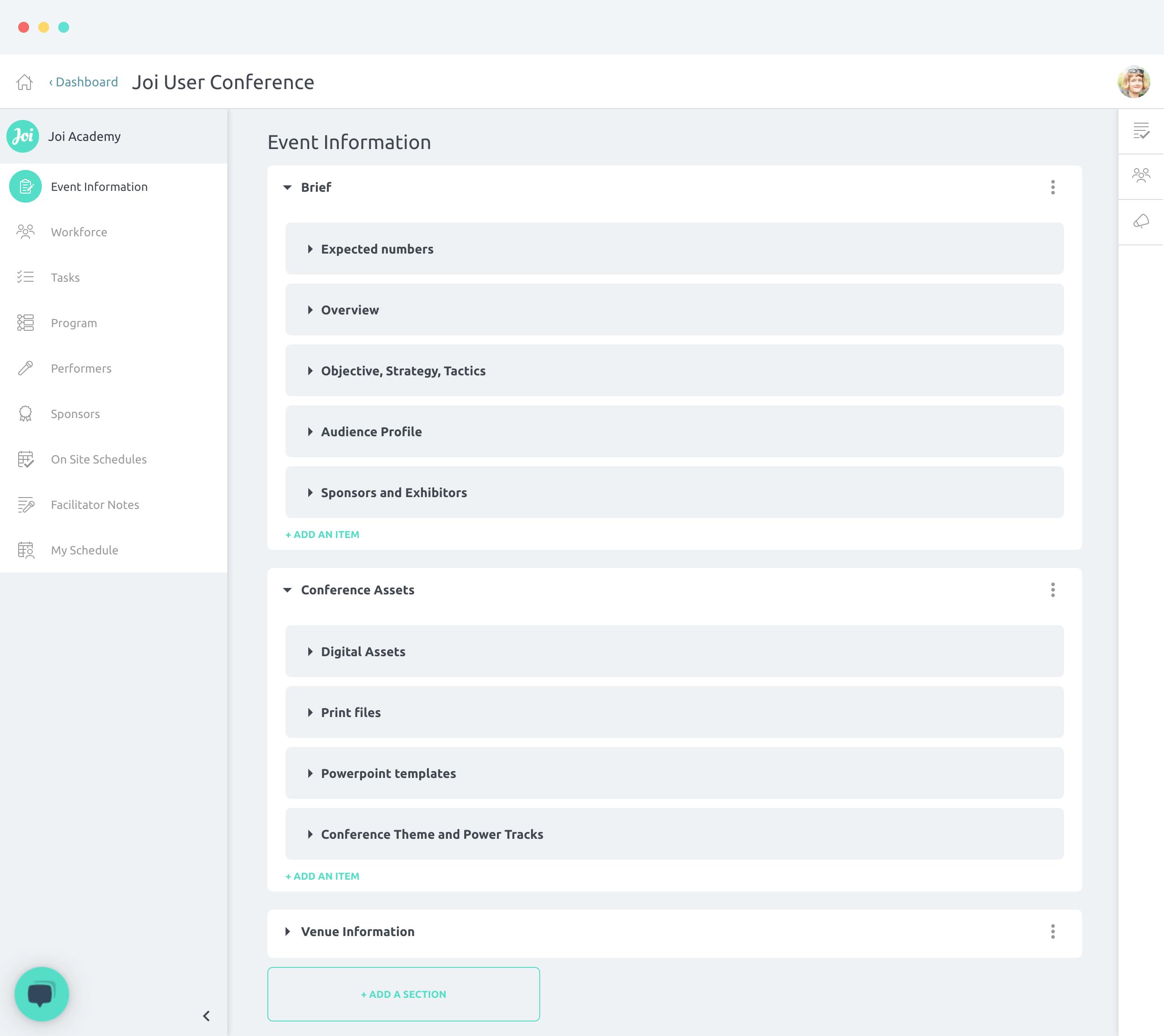 Event Information screenshot