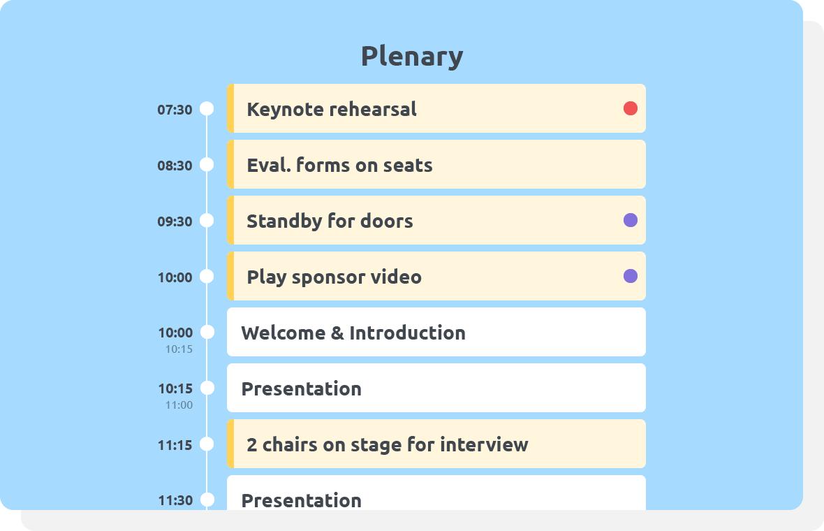 Smart schedules